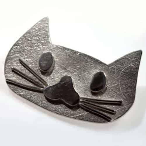 Katzengesicht,Silber