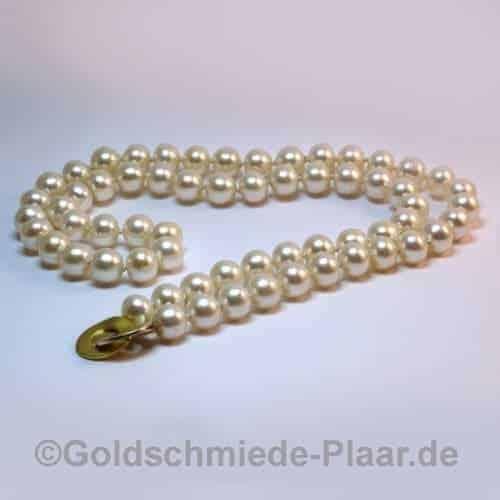 Zucht-Perlenkette mit Ringschliesse