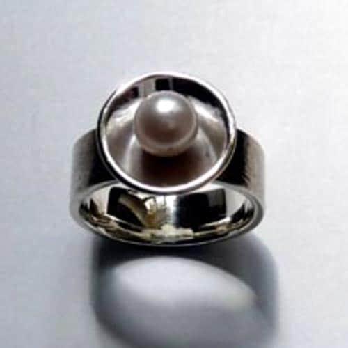 Ring 925/- Silber mit Zuchtperle