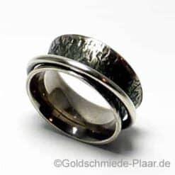Rollring Silber geschwärzt aus dem Shop der Goldschmiede Plaar