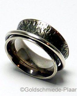Rollring Silber geschwärzt