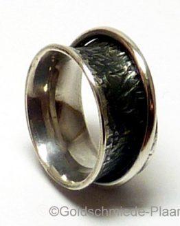 Rollring aus Silber geschwärzt