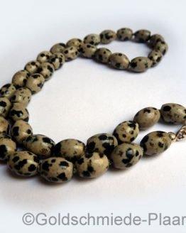 Dalmatiner-Jaspis-Kette