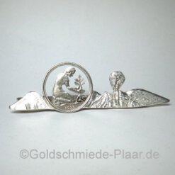Krawatten-Nadel mit 50 Pfennig-Stück
