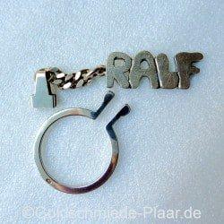 Schlüsselring mit Namen