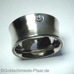 Silber-Ring mit Brillant