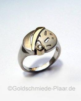 Ring aus Silber teilvergoldet