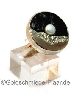 Silber-Ring mit Kokosnuss