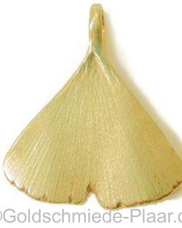 Ginkgo Blatt als Anhänger - Gold