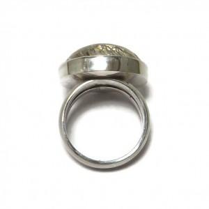 Ring aus Silber mit Rutilquarz, Seitenansicht
