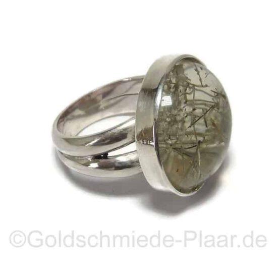 Ring aus Silber mit Rutilquarz