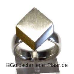 Silber-Ring mit 900er Gold