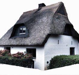 Ferienhaus mit Reetdach