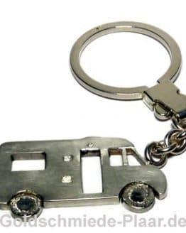 Wohnmobil Teilintegriert Schlüsselalnhänger Silber
