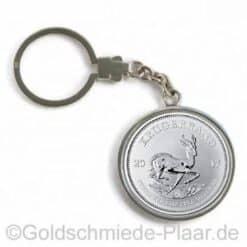 Schlüsselring mit Silbermünze
