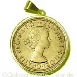 1 Sovereign Anhänger in Gold